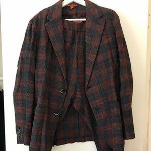 Barena Plaid Linen Suit IT50